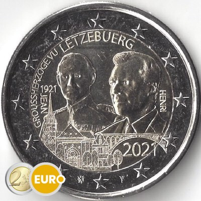 2 Euro Luxemburg 2021 - 100. Geburtstag Jean UNZ UNC