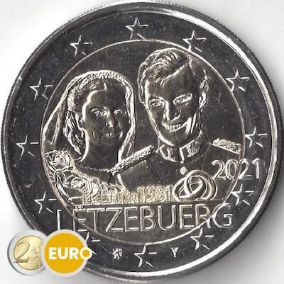 2 Euro Luxemburg 2021 - 40. Hochzeitstag Henri UNZ UNC
