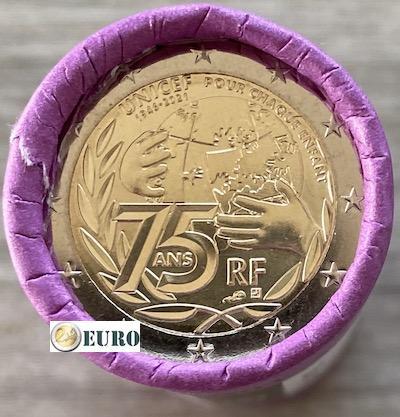 Rolle 2 euro Frankreich 2021 - 75 Jahre UNICEF