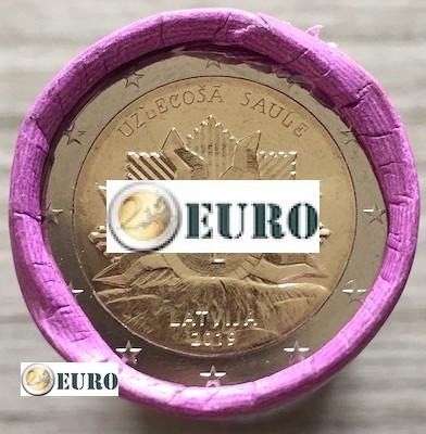 Rolle 2 euro Lettland 2019 - Wappen - Aufgehende Sonne