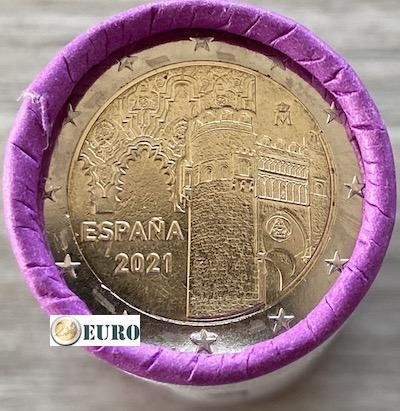 Rolle 2 euro Spanien 2021 - Altstadt von Toledo