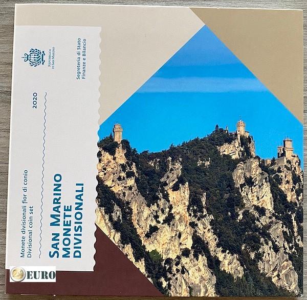 KMS Kursmünzensatz BU FDC San Marino 2020