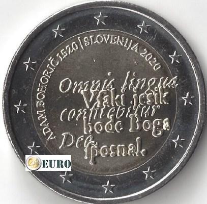2 euro Slowenien 2020 - Adam Bohoric UNC UNZ