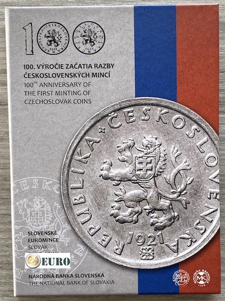 KMS Slowakei 2021 PP BE Proof - tschechoslowakischer Münzen
