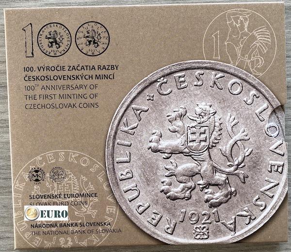 KMS Slowakei 2021 Stgl. BU FDC - tschechoslowakischer Münzen