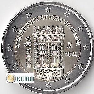 2 euro Spanien 2020 - Mudéjar Aragón UNC UNZ