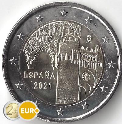 2 euro Spanien 2021 - Altstadt von Toledo UNC UNZ