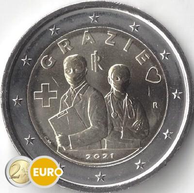 2 euro Italien 2021 - Grazie Gesundheitswesen UNZ UNC