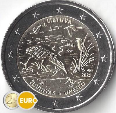 2 euro Litauen 2021 - Biosphärenreservat Zuvintas UNZ UNC