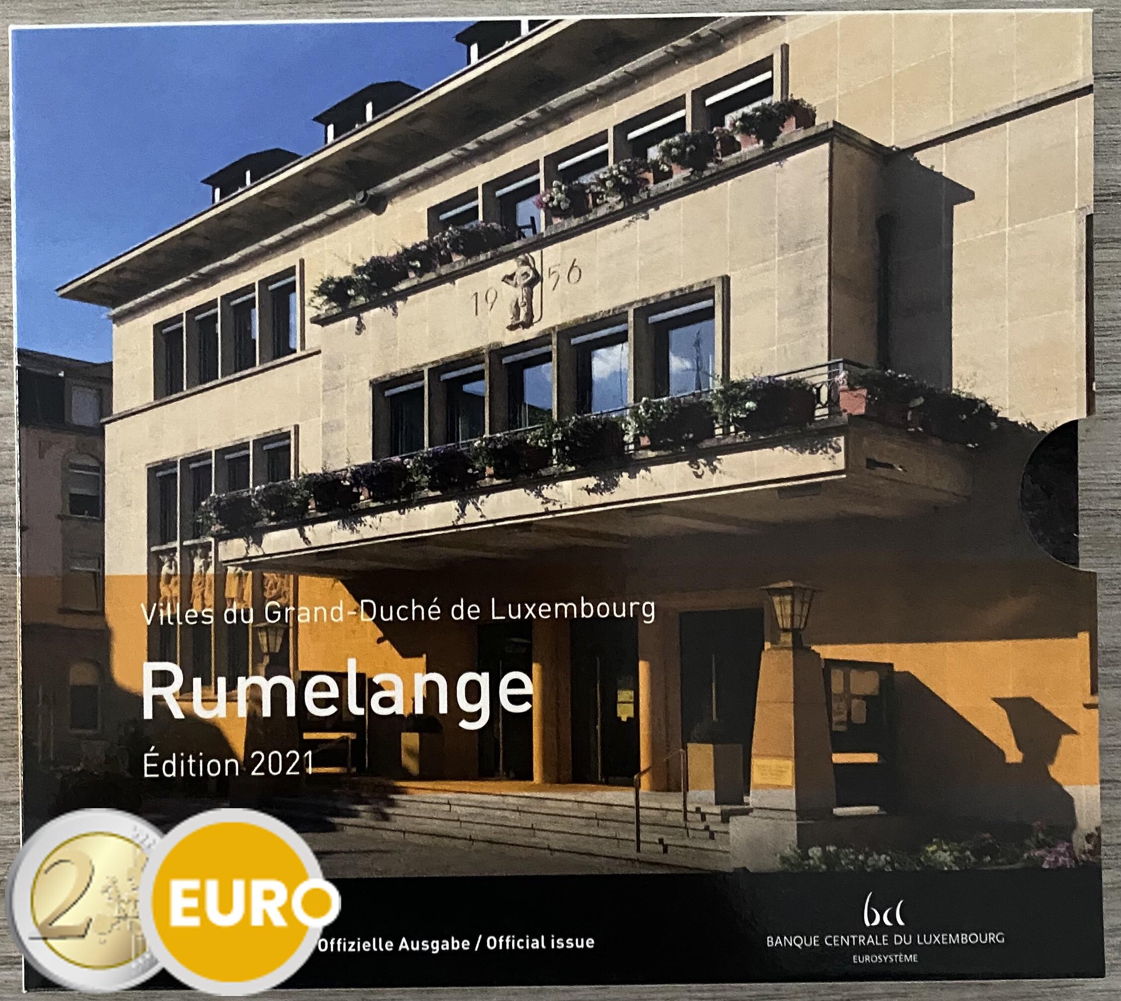 KMS Stgl. BU FDC Luxembourg 2021 Rümelingen + 2 euro Geburtstag Jean Foto