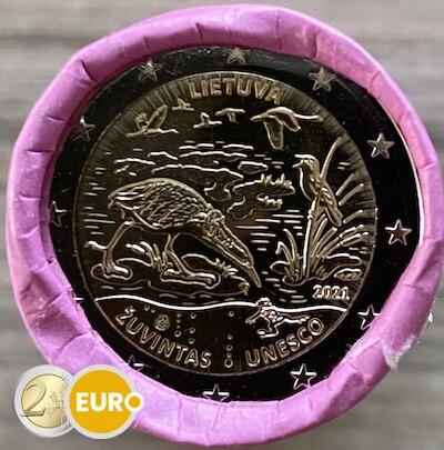 Rolle 2 euro Litauen 2021 - Biosphärenreservat Zuvintas