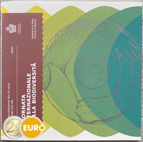 KMS Kursmünzensatz Stgl. BU FDC San Marino 2021 + 5 euro Biodiversität