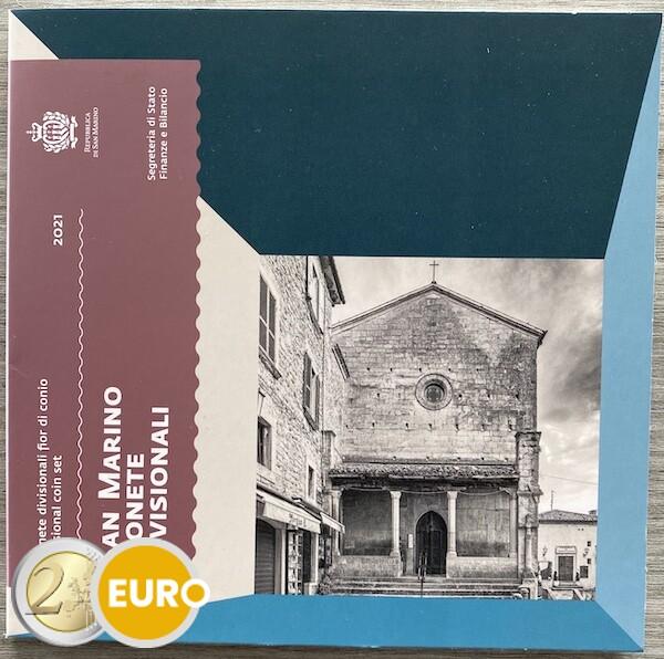 KMS Kursmünzensatz Stgl. BU FDC San Marino 2021