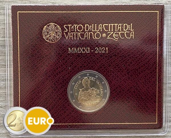 2 euro Vatikan 2021 - Caravaggio Stgl. BU FDC