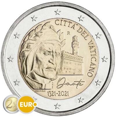 2 euro Vatikan 2021 - Dante Alighieri Stgl. BU FDC