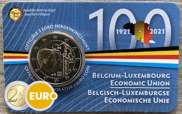 2 euro Belgien 2021 - Wirtschaftsunion BU FDC Coincard NL