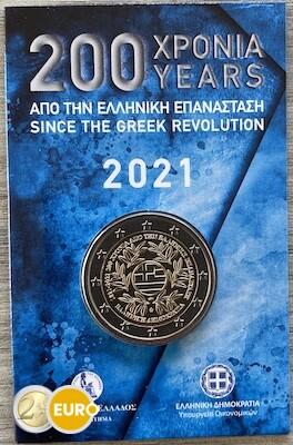 2 euro Griechenland 2021 - Griechische Revolution Stgl. BU FDC Coincard