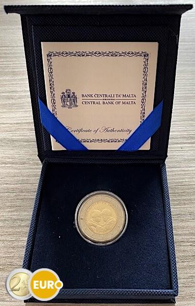 2 euro Malta 2021 - Helden der Pandemie UNZ Box Münzzeichen MdP Fullhorn Zertifikat