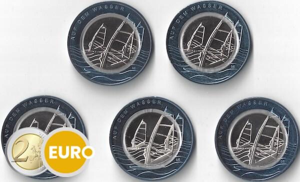 10 euro Deutschland 2021 - Auf dem Wasser ADFGJ UNZ UNC