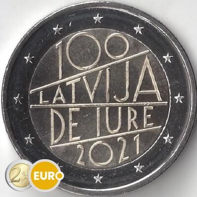 2 euro Lettland 2021 - Internationalen Anerkennung UNZ UNC